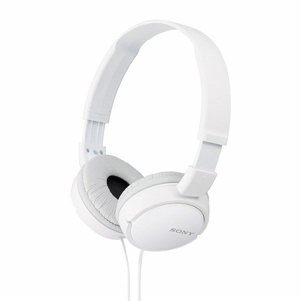Sony MDR ZX110 On Ear Stereo Headphones  White