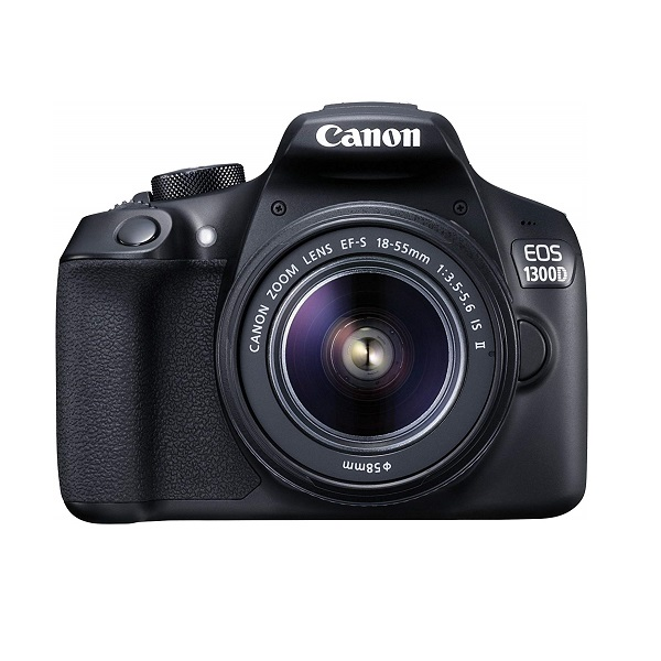 Canon Eos 1300D 18MP Digital SLR Camera  Black  with 18 55 and 55 250mm is II Lens, 16 GB Card and Carry Case