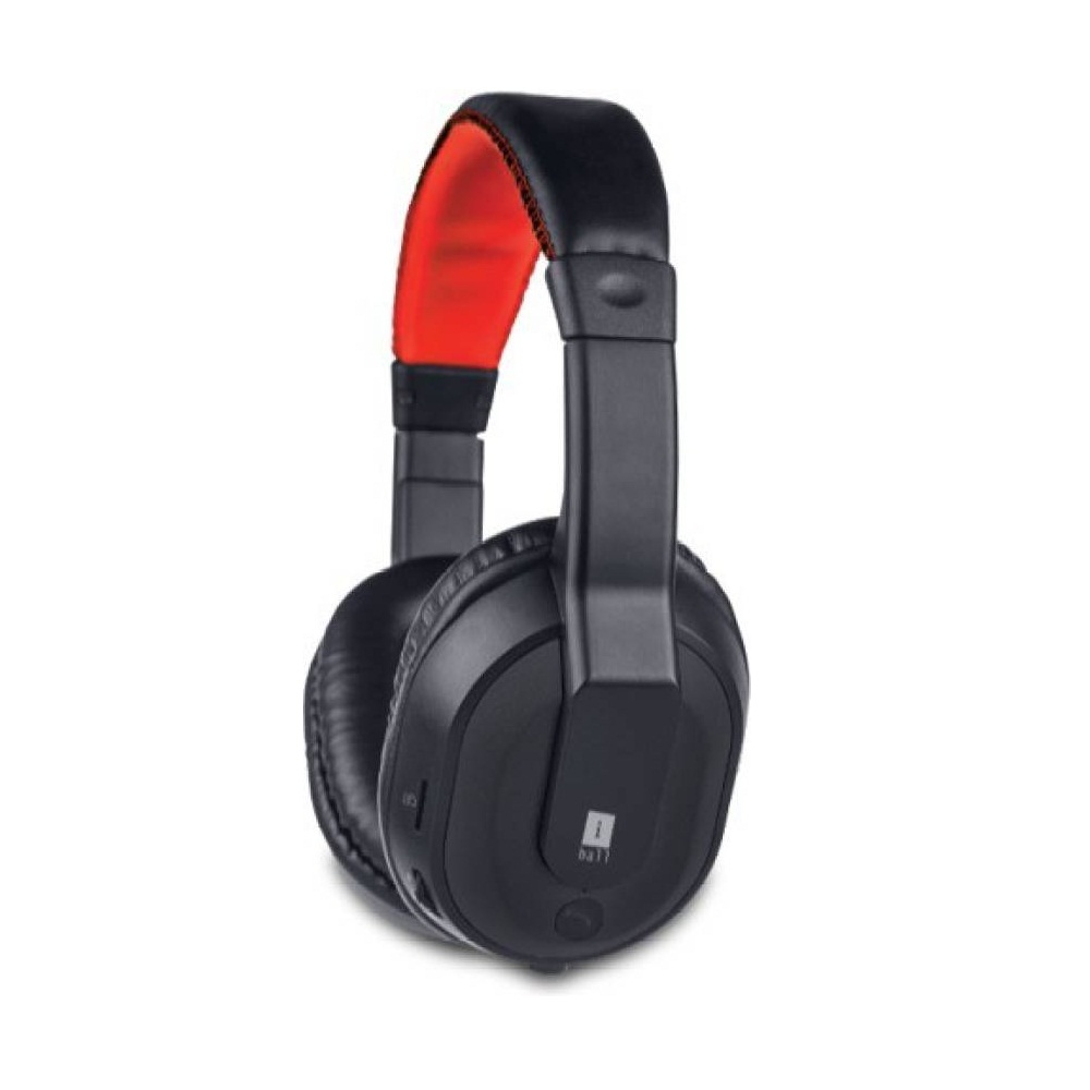 Iball Musi Tap Clarity Headsets with BT / FM / MicroSD Playback Bluetooth Headset with Mic  Black, Over the Ear